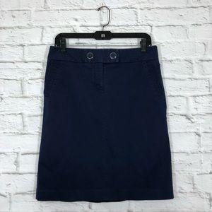 J. Crew | Pencil Skirt Pockets Enamel Buttons Sz 8